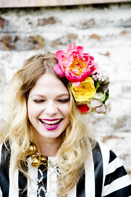 Ashley Bailey Floral Headpiece
