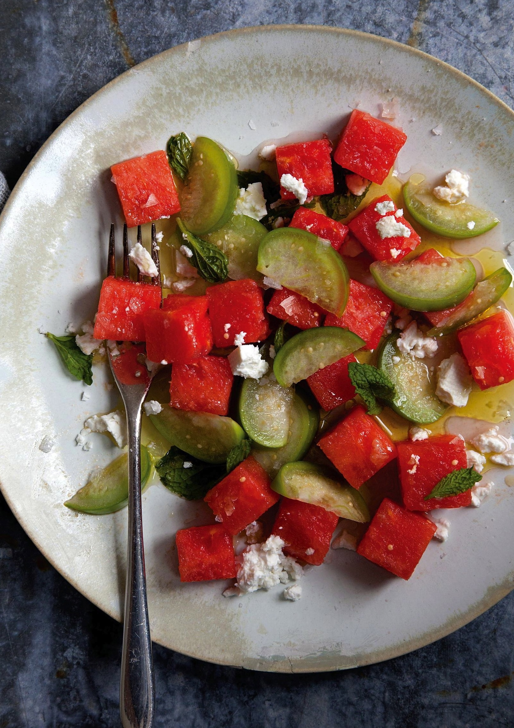 Watermelon and Tomatillo Salad:image