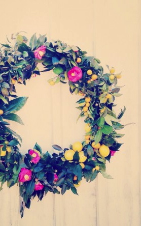 Citrus Wreath by katherine sandoz for salted and styled