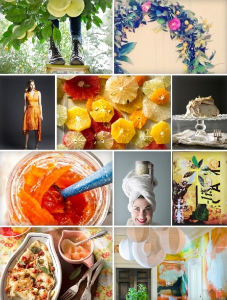 Grapefruit Inspiration (Libbie Summers, Chia Chong, katherine sandoz, ashley bailey, brooke atwood, holly phillips and brenda anderson for Salted and Styled)