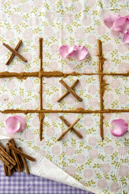 Valentine's Day Tic-Tac-Toe board (Libbie Summers and Chia Chong for Salted and Styled)
