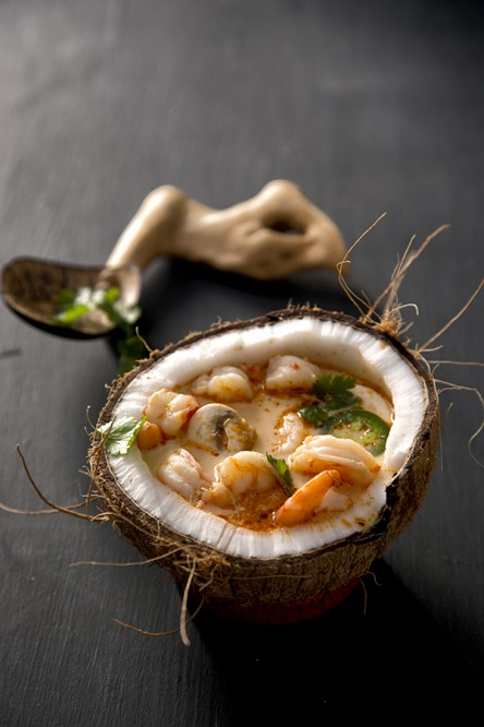 Shrimp Coconut Curry Soup (Libbie Summers and Chia Chong for Salted and Styled)