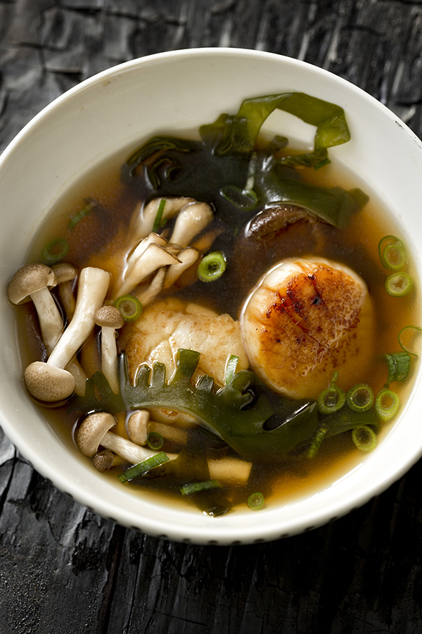 Ocean In A Bowl Seaweed Soup With Scallops Salted And
