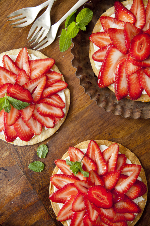 Crisp and Easy Strawberry Goat Cheese Tart (Libbie Summers and Chia Chong for Salted and Styled)
