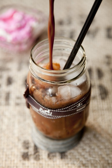 Iced Malted Cherry Coffee (Libbie Summers and Chia Chong for Salted and Styled)