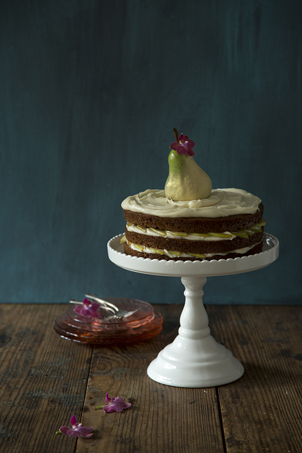 Naked Pear Cake with Ginger Frosting (Libbie Summers and Chia Chong for Salted and Styled)