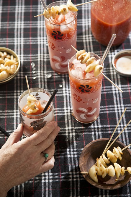 Hot Pickled Garlic Bloody Mary (Libbie Summers and Chia Chong for Salted and Styled)
