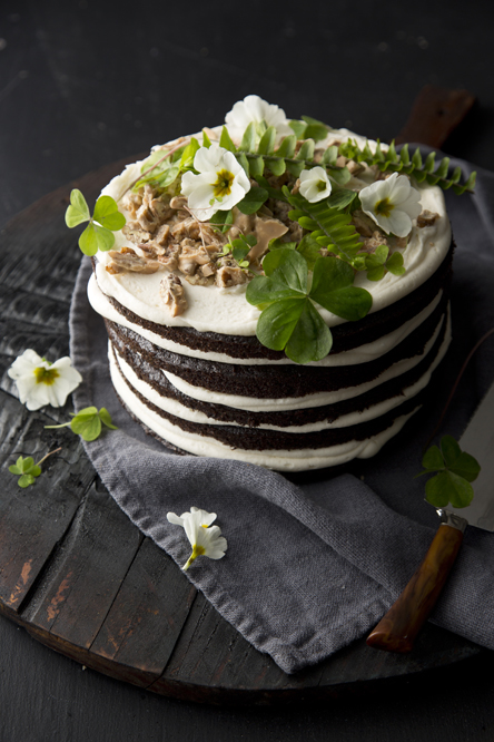 Good and Evil Chocolate Layer Cake (Libbie Summers and Chia Chong for BAILEYS® Coffee Creamers Original Irish Cream)